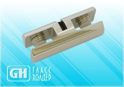 Кронштейн для вертикального крепления стекла с двух сторон ТС Тип 2